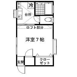 神奈川県海老名市東柏ケ谷5丁目の賃貸アパートの間取り
