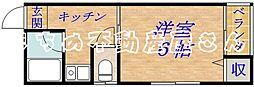 マンション第二新大宮[3階]の間取り
