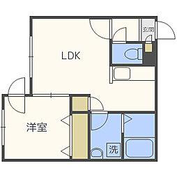 北海道札幌市白石区本通12丁目南の賃貸マンションの間取り
