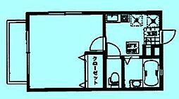 メゾンドゥエスポワール[1階]の間取り