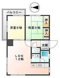 アフロス甲子園[2階]の間取り