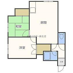 プレジデント1−4[2階]の間取り