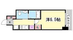エステムプラザ神戸三宮ルクシア[3階]の間取り