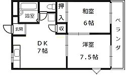メゾン楠[2階]の間取り