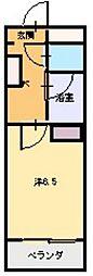 M Sコート紫雲[2階]の間取り
