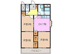 ラルーシア高茶屋[4階]の間取り