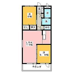 ジェンティーレ[4階]の間取り
