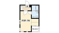 愛知県名古屋市昭和区小坂町2丁目の賃貸マンションの間取り