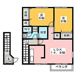 プチエンジェルB[2階]の間取り