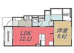 京成本線 京成成田駅 バス22分 富里中学校下車 徒歩13分の賃貸アパート 1階1LDKの間取り