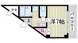 フリックコート下祇園[3階]の間取り
