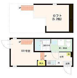 (仮称)平井7丁目Aコーポ[1階]の間取り