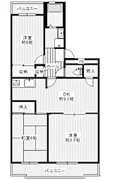リヴェール町田2[1階]の間取り