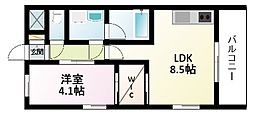 Osaka Metro御堂筋線 新大阪駅 徒歩6分の賃貸マンション 10階1LDKの間取り
