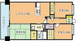 タウンコートIII[5階]の間取り