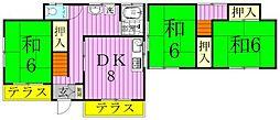 [一戸建] 千葉県松戸市田中新田 の賃貸【/】の間取り