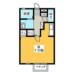 弥生ハイツ[1階]の間取り