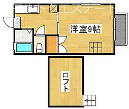 サニーコート A棟[2階]の間取り