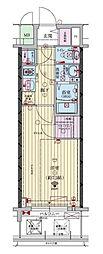 ファーストフィオーレ福島野田II 9階1Kの間取り