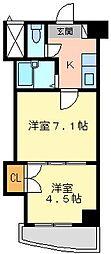 ロイヤルマキシム[907号室]の間取り
