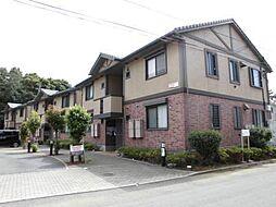 埼玉県川越市的場の賃貸アパートの外観
