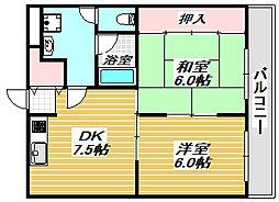メゾン・ドゥ・ミヤモト[2階]の間取り