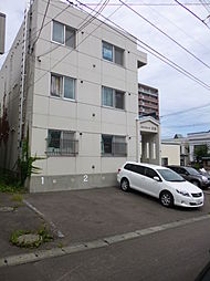 北海道小樽市花園2丁目の賃貸アパートの外観