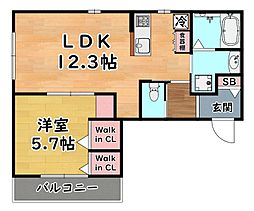 阪急神戸本線 王子公園駅 徒歩1分の賃貸マンション 3階1LDKの間取り