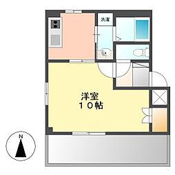 クリスタルハイムII[1階]の間取り