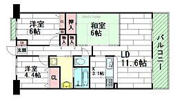 リッツ江坂[3階]の間取り