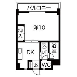 グリーンハイツ徳川[4E号室]の間取り