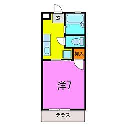 ハイツ成田[105号室]の間取り