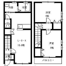 [テラスハウス] 広島県東広島市高屋町中島 の賃貸【/】の間取り