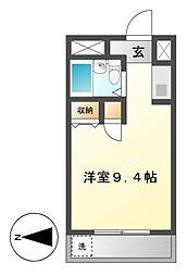 シャルム大堀[4階]の間取り