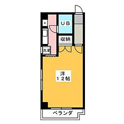 サニーサイド志水[3階]の間取り