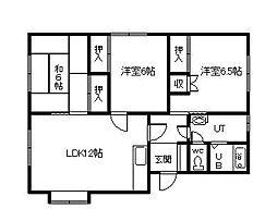ドリームハウス(永山) 2階3LDKの間取り
