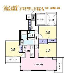千葉県習志野市屋敷4丁目の賃貸マンションの間取り