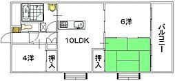 前田ハイツII[405号室]の間取り
