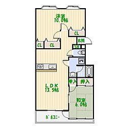 レジデンスエスポワール[4階]の間取り