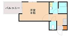 福岡県福岡市南区横手3丁目の賃貸アパートの間取り