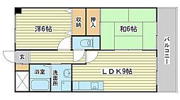 プランドール柳井[301号室]の間取り