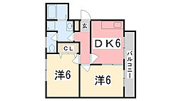 プチ・ボヌール[203号室]の間取り