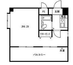 福岡県福岡市中央区白金1丁目の賃貸マンションの間取り