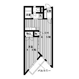 東京都練馬区富士見台の賃貸アパートの間取り