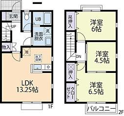 小田急小田原線 町田駅 徒歩18分の賃貸アパート 2階3LDKの間取り
