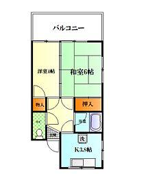汐入サカイマンション[3-1号室]の間取り