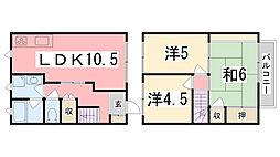 [テラスハウス] 兵庫県加古川市平岡町一色 の賃貸【兵庫県 / 加古川市】の間取り