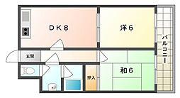 オスカー藤田[2階]の間取り