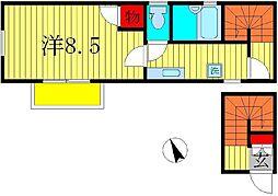 ドエル・OKA[2階]の間取り