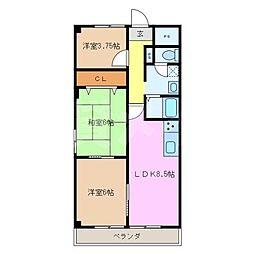アップライト西原マンション[7階]の間取り